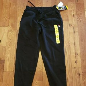 NWT Women's Black Jalisa FILA Jogger Sweats